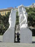 Tom and Marla at a war memorial