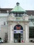 at the Hofburg gardens, the Jugendstil butterfly house...