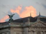 sunset on the Heldenplatz