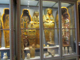 an impressive collection of mummies and cases