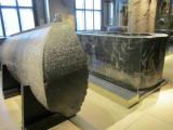 a spectacular carved sarcophagus...