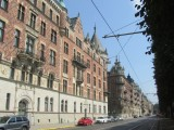 now we're on Strandvägen, a row of 19th-c. houses facing Skeppsholmen