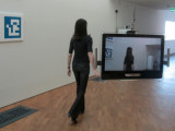 the temporary exhibits feature new media such as live video...