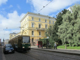 one of the many trams en route thru the old town