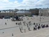 a view of the square from the cathedral steps