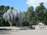 north of the downtown, the Sibelius monument