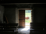 inside the tiny old chapel