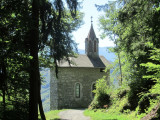 ...to reach the tiny chapelle St. Grat above the village