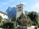church in Samoëns, in a nearby valley