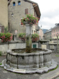fountain in Taninges, the nearest small town