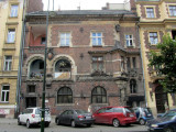 now we're on Retoryka street, home to a lovely set of buildings by Teodor Talowski