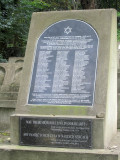a memorial to Jews killed during the war