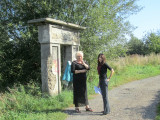 at the old Jewish cemetery; the entrance gate is all that remains
