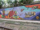 some mural art on the walk down to the water