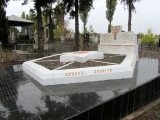here is a monument to the victims of the Shoah, noting the towns where they died