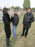 the group discusses the wartime history of the town