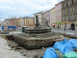 the Dolni square is being excavated in preparation for rehabilitation