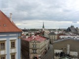 at the top of the museum is a view over part of the city