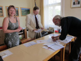 we have a meeting with the town's Mayor Michal and his assistant Mrs. Tupá