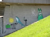 down by the river, a strange rabbit and friends