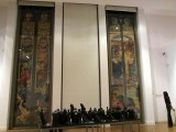 back in the main modern art section, large stained-glass designs by Jozef Mehoffer