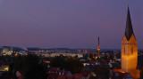Blick vom Tylenturm über die Kilianskirche zu den Continental-Gummiwerken