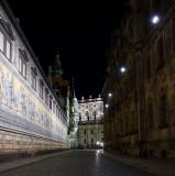 Fürstenzug mit Schloss und Hofkirche