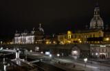 Blick von der Augustusbrücke auf das Terrassenufer und die Brühlschen Terrassen
