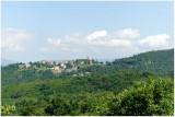 Village sur la route de Corte vers Ajaccio