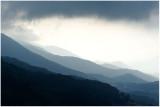 Orage et montagnes corses