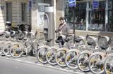 Velib, a system of bikes for rent, Paris.