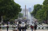 Tuileries Jardin, Luxor obelisk, Arc de Triomphe, Paris