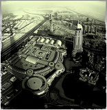Dubai from the top of burj khalifa - Polaroid 2