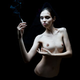 Aisii - Smoking Dressed the naked woman