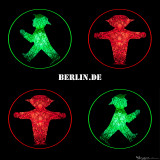 Camera made Berlin Postcard with Ampelmann