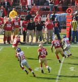 San Francisco 49ers vs. New York Giants - game scenes