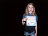 Ons lieve kleinkind Chymène met haar dance certificaat.