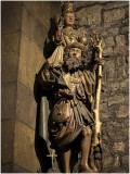 St. Christoffel draagt het Jezuskind