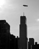 Blimp Over New York City
