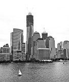 Cityscape-  One World Trade with sail Boat