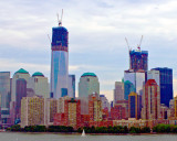 Cityscape-  One World Trade with sail Boat II