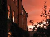 a red sky tonight