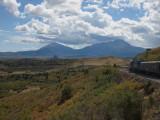 Spanish Peaks from LaVeta Pass