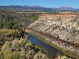 Coal Train following the Colorado River