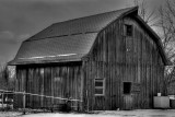 Black and White of Secure Barn