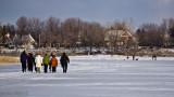 Marcheurs sur glace