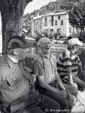 the elderlies meet on the bench...