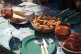 guest's meal in he garden...
