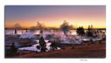 Sunrise, West Thumb Geyser Basin