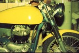 Norton Atlas cafe racer handmade fiberglass gas tank and seat (oil tank in the seat)